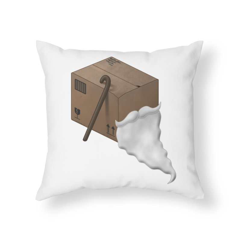 Pack-age Home Throw Pillow by Eriklectric's Artist Shop