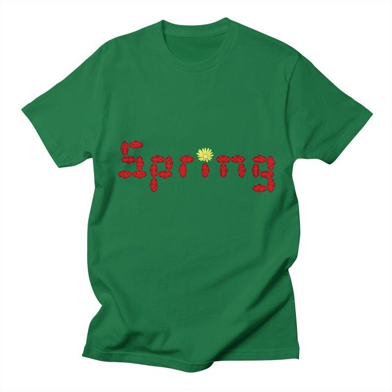 Ladybug Dominoes Men's Regular T-Shirt by Eriklectric's Artist Shop