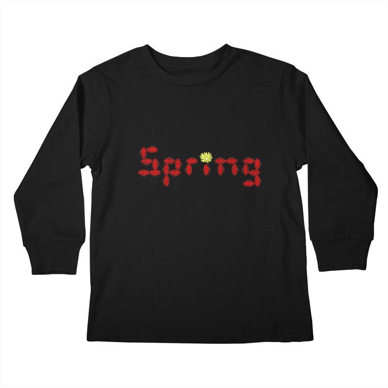 Ladybug Dominoes Kids Longsleeve T-Shirt by Eriklectric's Artist Shop
