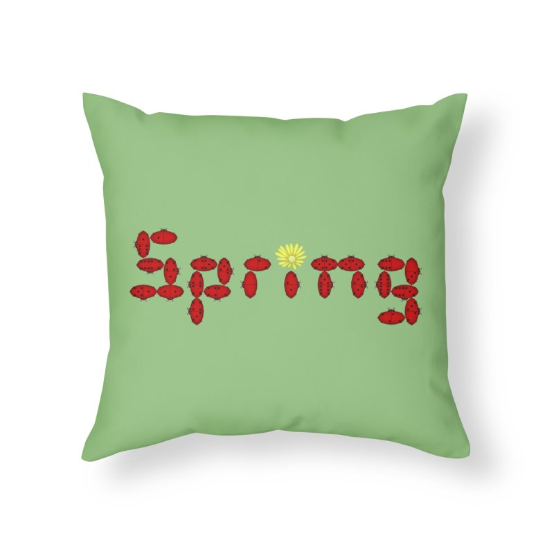 Ladybug Dominoes Home Throw Pillow by Eriklectric's Artist Shop