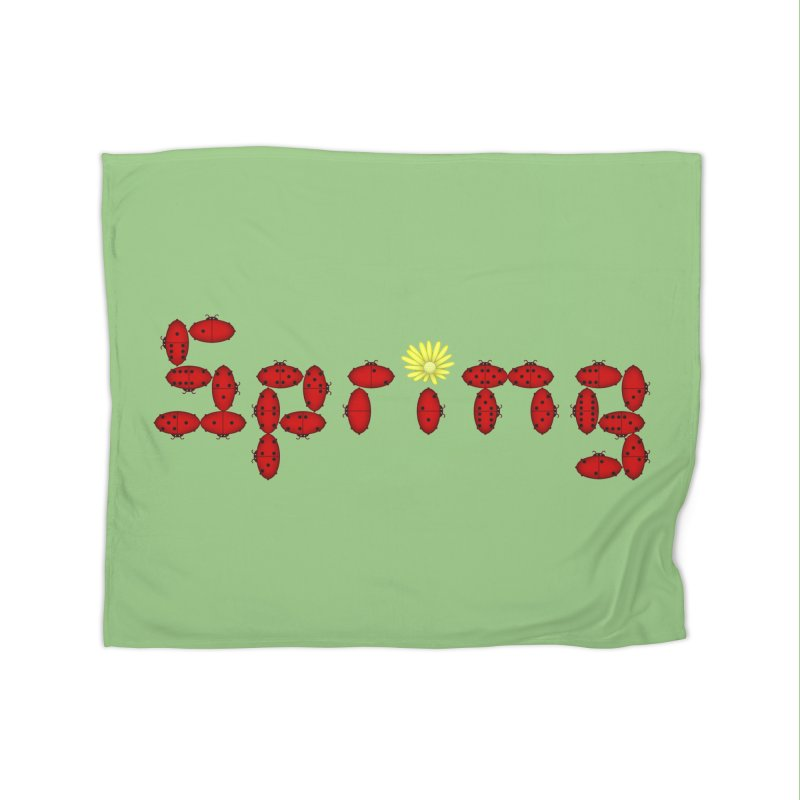 Ladybug Dominoes Home Fleece Blanket Blanket by Eriklectric's Artist Shop
