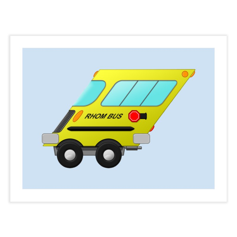 Rhom-bus Home Fine Art Print by Eriklectric's Artist Shop