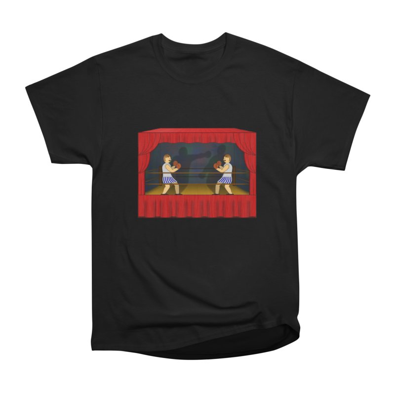 Shadow Box-ing Women's Heavyweight Unisex T-Shirt by Eriklectric's Artist Shop