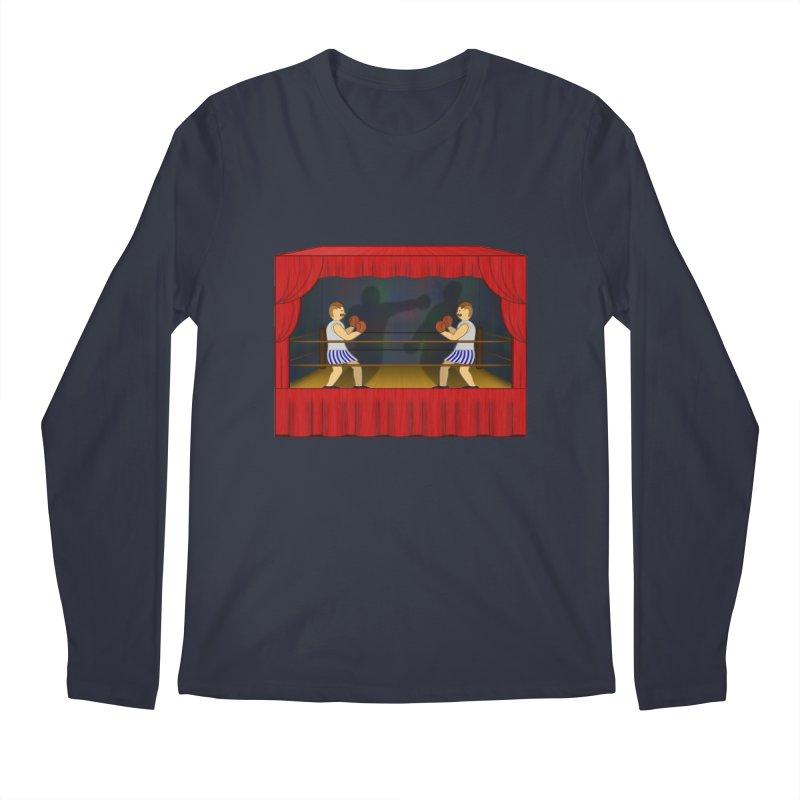 Shadow Box-ing Men's Regular Longsleeve T-Shirt by Eriklectric's Artist Shop