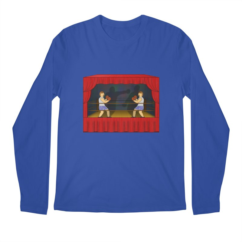 Shadow Box-ing Men's Longsleeve T-Shirt by Eriklectric's Artist Shop