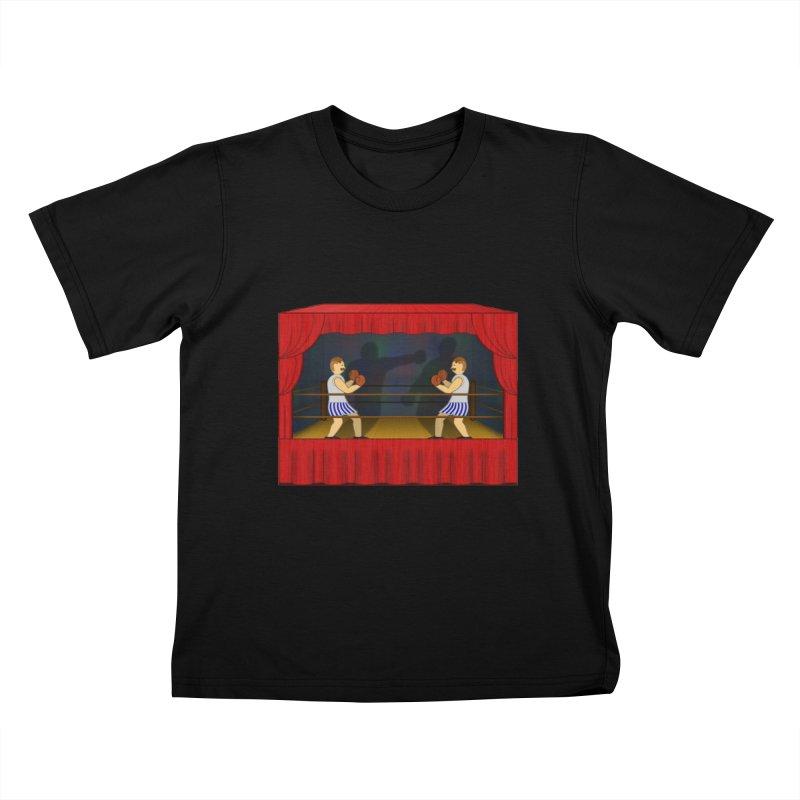 Shadow Box-ing Kids T-Shirt by Eriklectric's Artist Shop