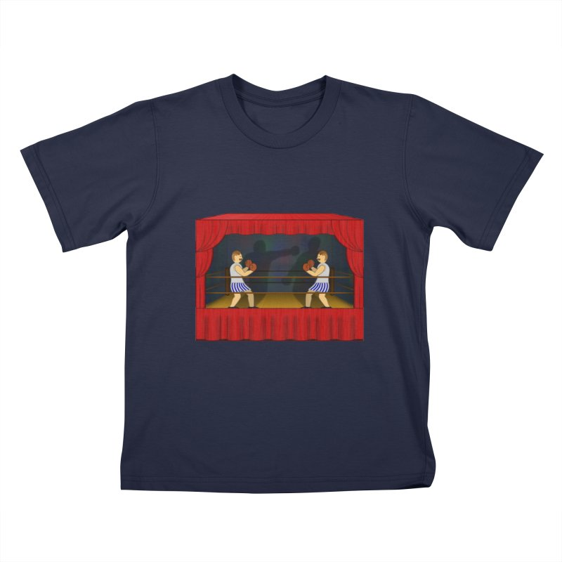 Shadow Box-ing Kids T-Shirt by Eriklectric's Artist Shop