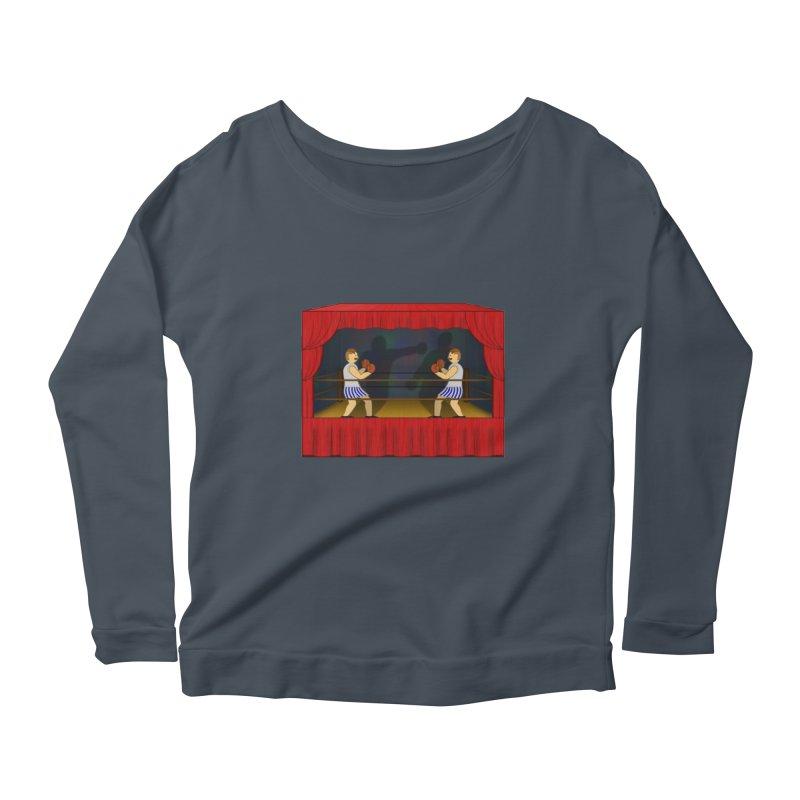 Shadow Box-ing Women's Scoop Neck Longsleeve T-Shirt by Eriklectric's Artist Shop