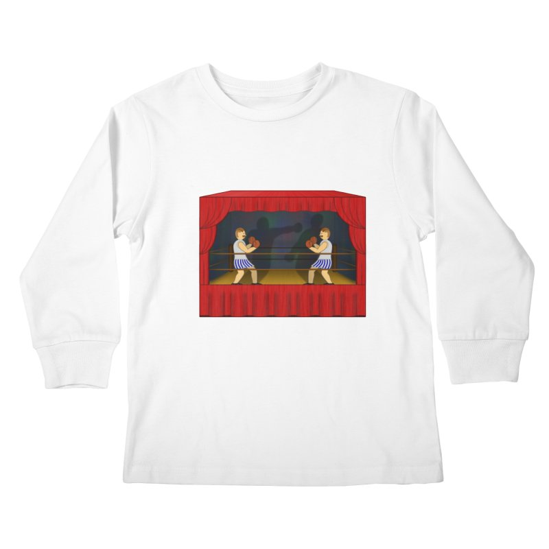 Shadow Box-ing Kids Longsleeve T-Shirt by Eriklectric's Artist Shop