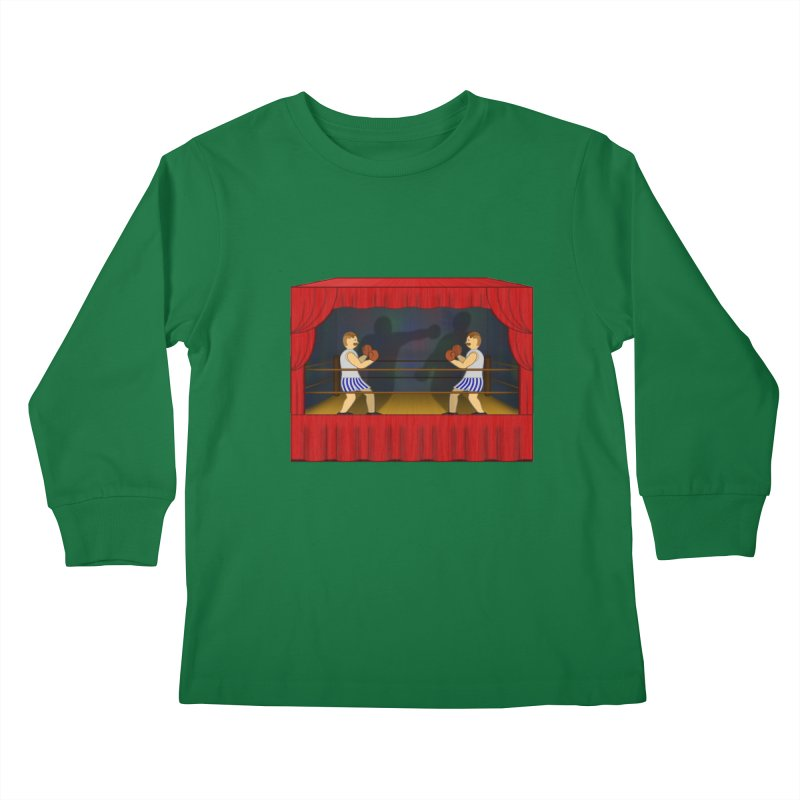 Shadow Box-ing Kids Longsleeve T-Shirt by Eriklectric's Artist Shop