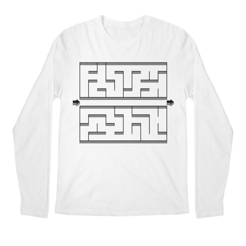 Econo-maze Men's Longsleeve T-Shirt by Eriklectric's Artist Shop