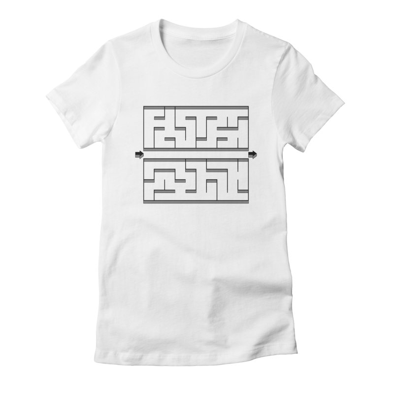 Econo-maze Women's Fitted T-Shirt by Eriklectric's Artist Shop