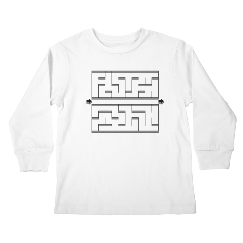 Econo-maze Kids Longsleeve T-Shirt by Eriklectric's Artist Shop