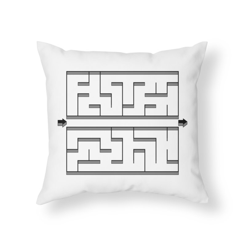 Econo-maze Home Throw Pillow by Eriklectric's Artist Shop