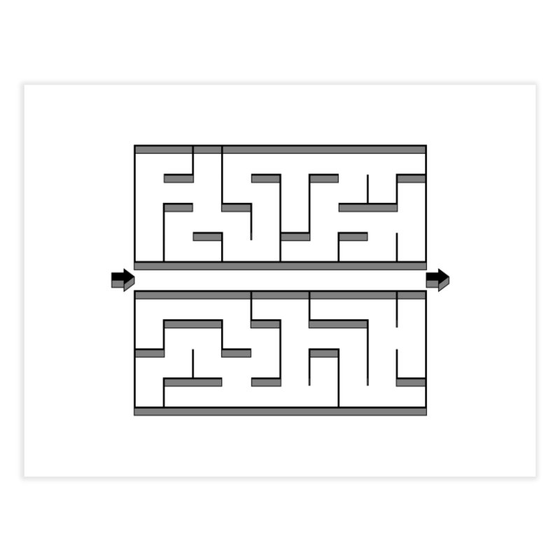 Econo-maze Home Fine Art Print by Eriklectric's Artist Shop