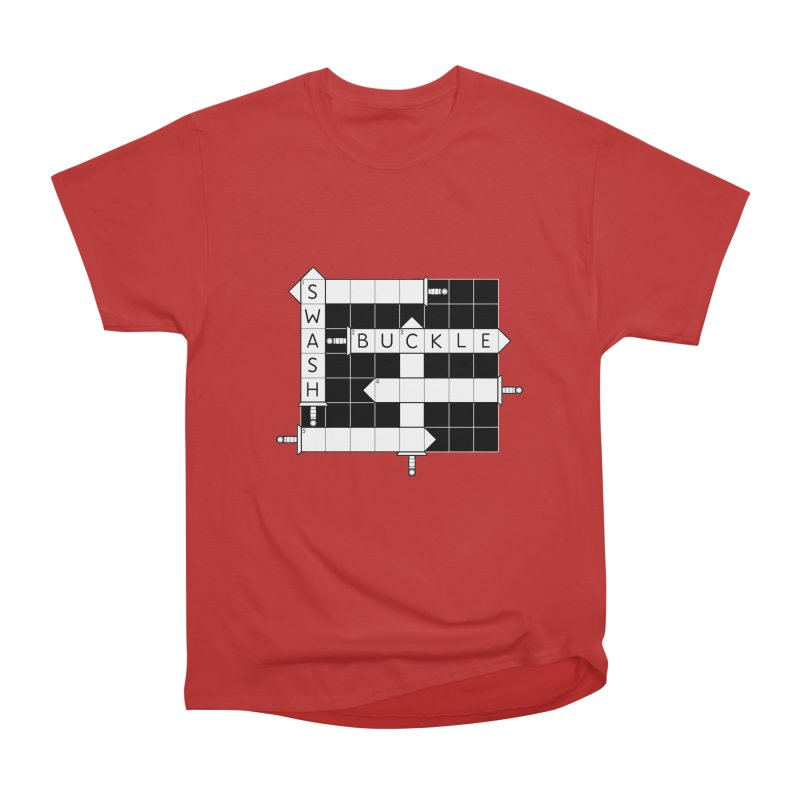 CrossSword Puzzle Men's Heavyweight T-Shirt by Eriklectric's Artist Shop