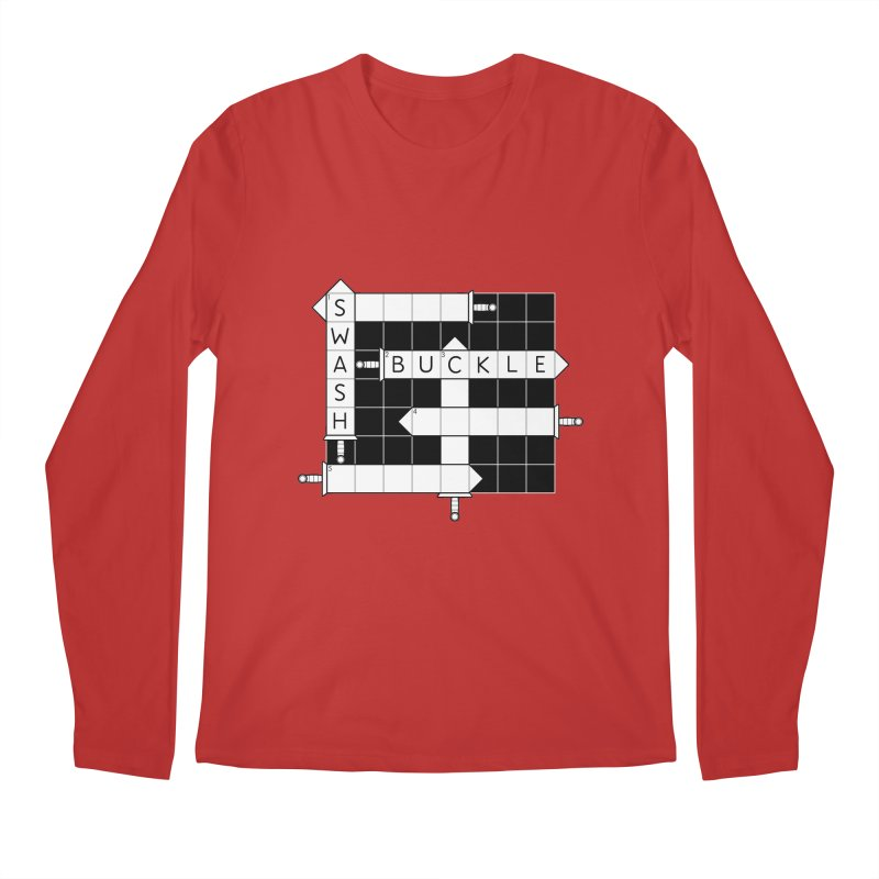 CrossSword Puzzle Men's Longsleeve T-Shirt by Eriklectric's Artist Shop