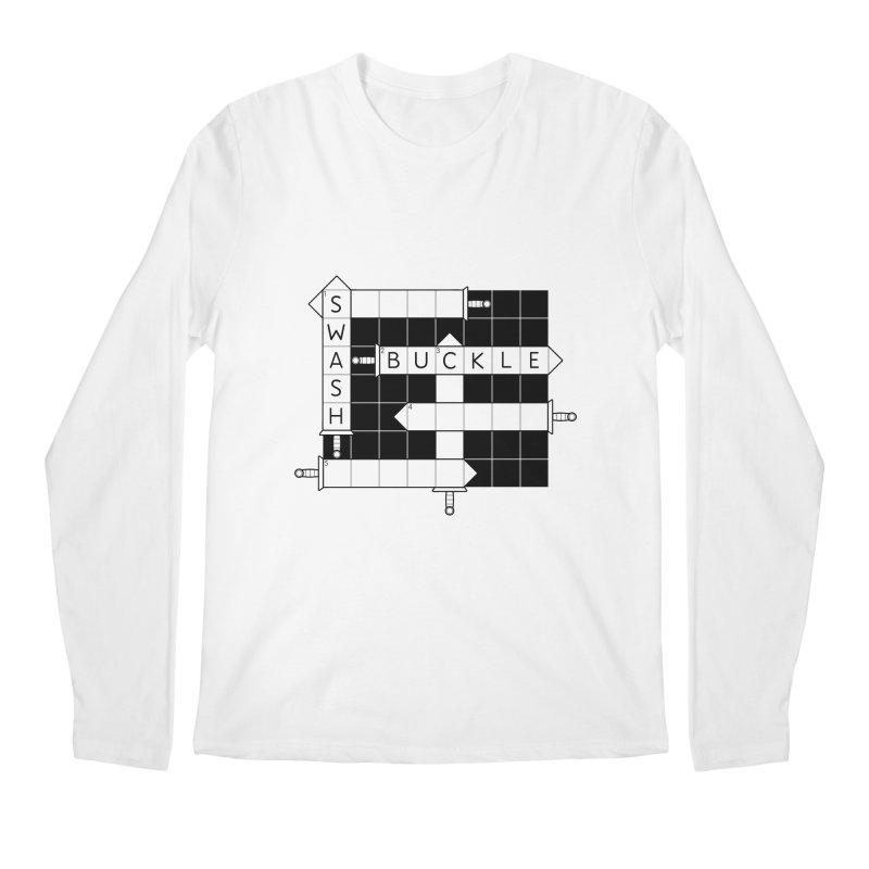 CrossSword Puzzle Men's Regular Longsleeve T-Shirt by Eriklectric's Artist Shop
