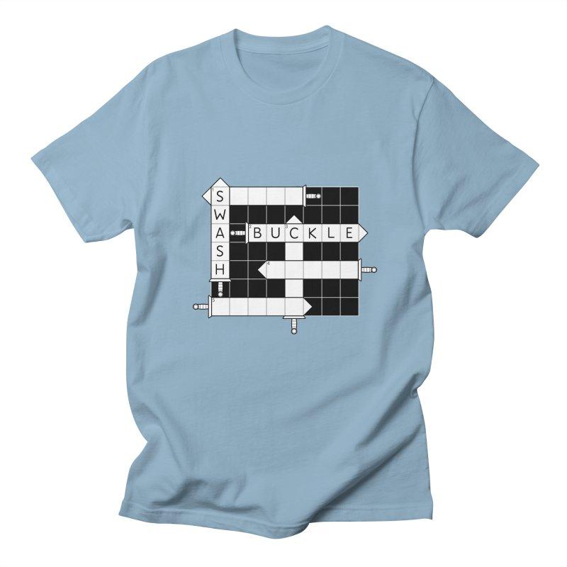 CrossSword Puzzle Men's Regular T-Shirt by Eriklectric's Artist Shop