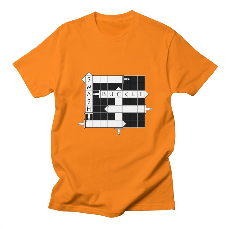 CrossSword Puzzle Men's Regular T-Shirt by Eriklectric's Artist Shop