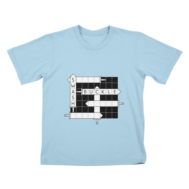 CrossSword Puzzle Kids T-Shirt by Eriklectric's Artist Shop