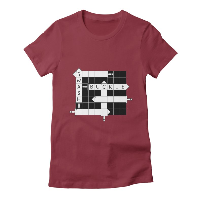 CrossSword Puzzle Women's Fitted T-Shirt by Eriklectric's Artist Shop
