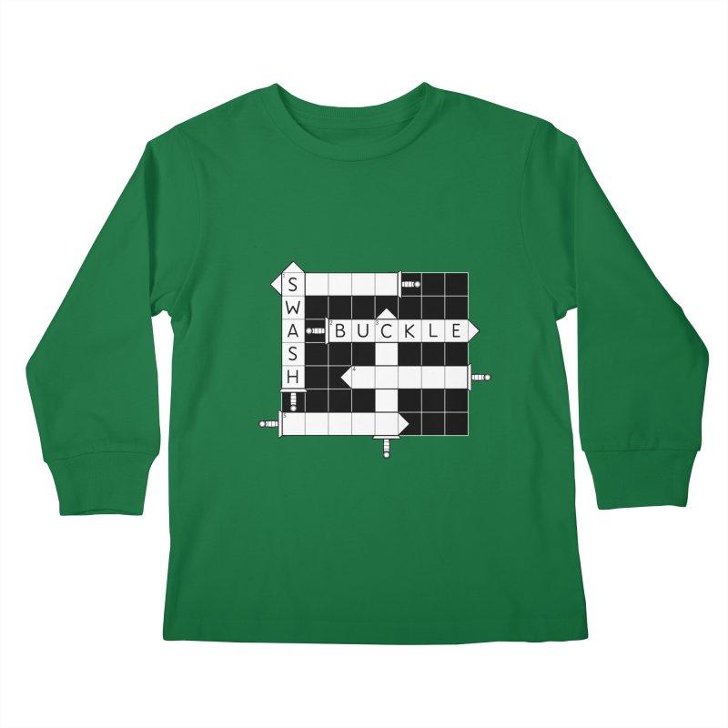 CrossSword Puzzle Kids Longsleeve T-Shirt by Eriklectric's Artist Shop