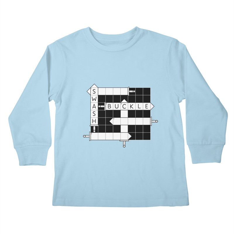 CrossSword Puzzle Kids Longsleeve T-Shirt by Eriklectric's Artist Shop