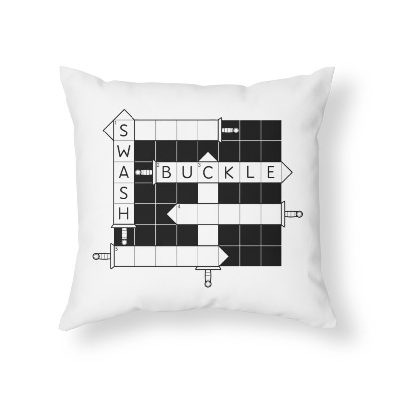CrossSword Puzzle Home Throw Pillow by Eriklectric's Artist Shop