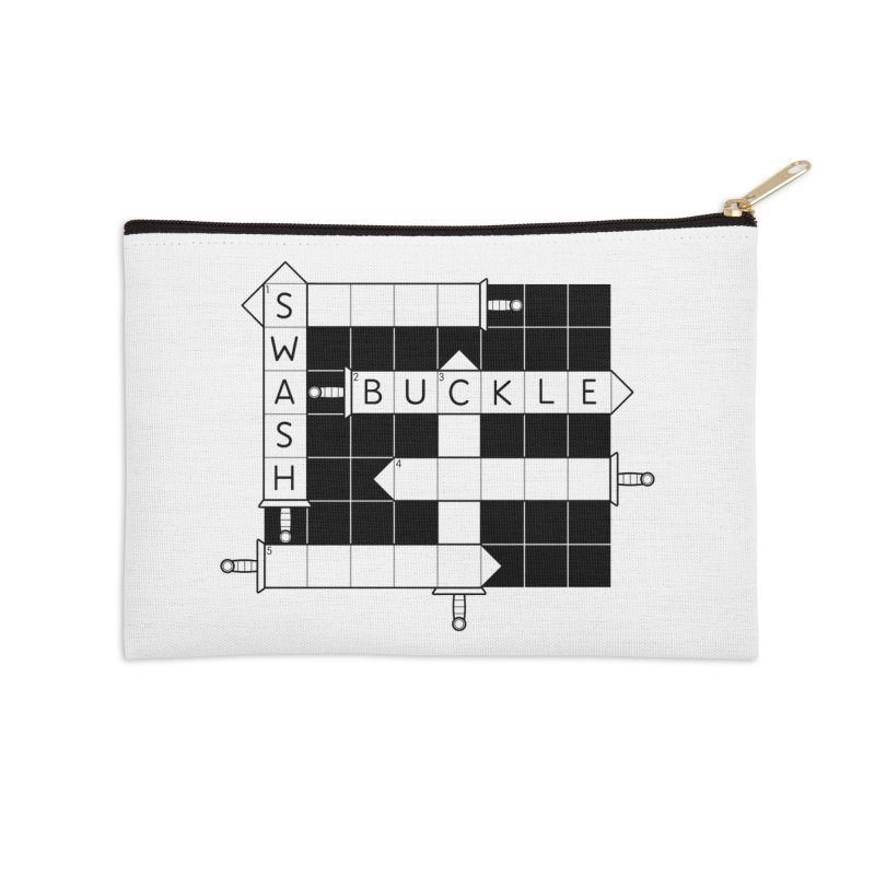 CrossSword Puzzle Accessories Zip Pouch by Eriklectric's Artist Shop