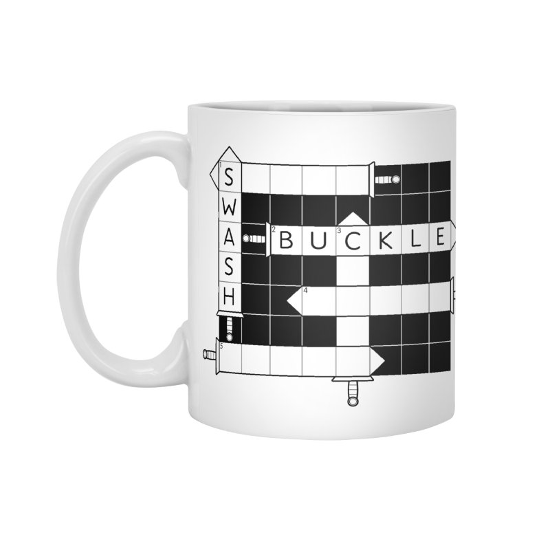 CrossSword Puzzle Accessories Mug by Eriklectric's Artist Shop