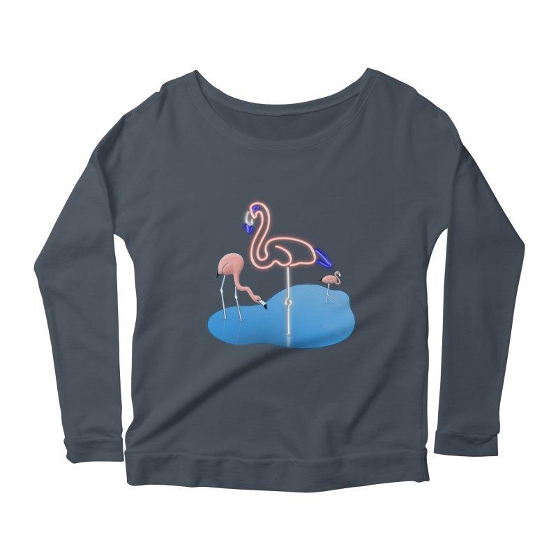 Flaminglow Women's Scoop Neck Longsleeve T-Shirt by Eriklectric's Artist Shop