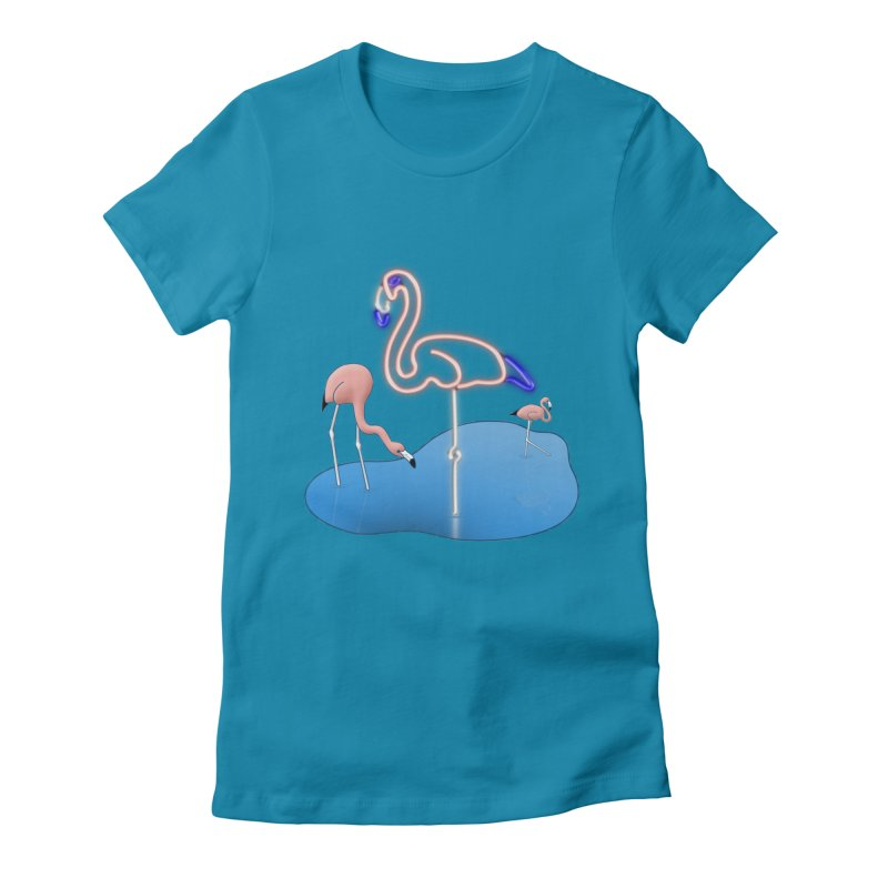 Flaminglow Women's Fitted T-Shirt by Eriklectric's Artist Shop