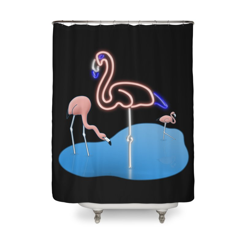 Flaminglow Home Shower Curtain by Eriklectric's Artist Shop