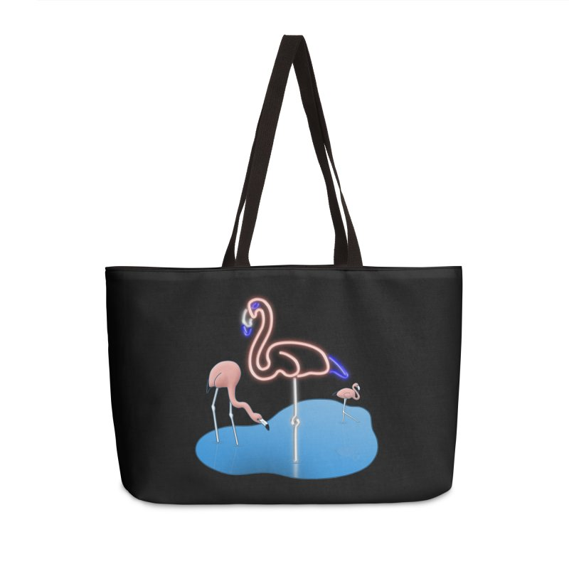 Flaminglow Accessories Weekender Bag Bag by Eriklectric's Artist Shop