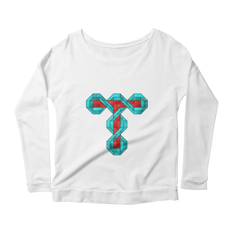 Stained Glass T Women's Scoop Neck Longsleeve T-Shirt by Eriklectric's Artist Shop
