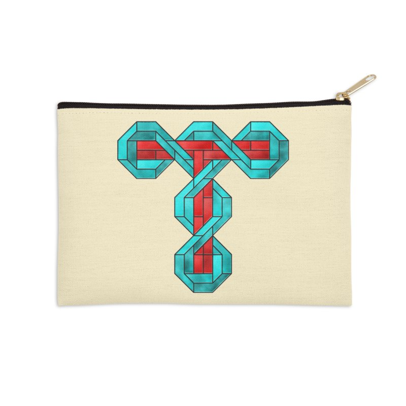 Stained Glass T Accessories Zip Pouch by Eriklectric's Artist Shop