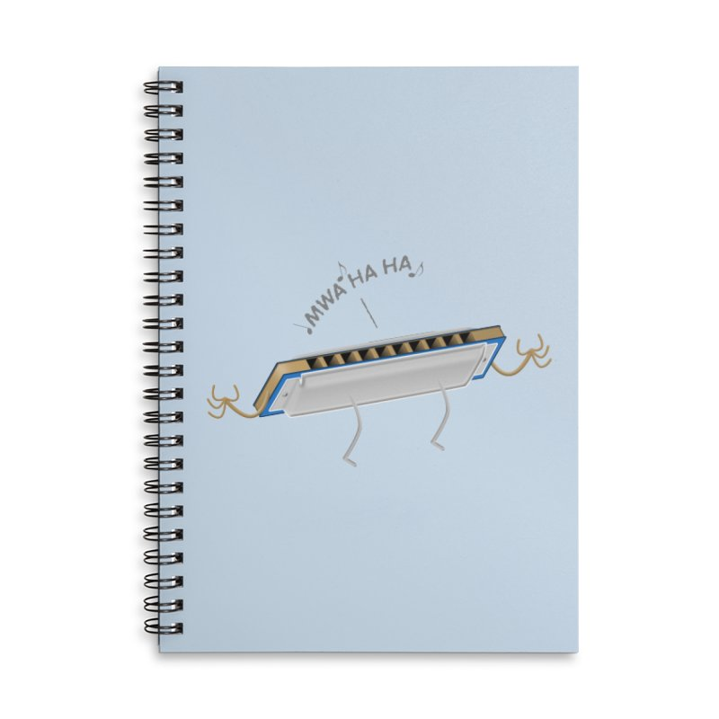 Harmoniacal Accessories Lined Spiral Notebook by Eriklectric's Artist Shop