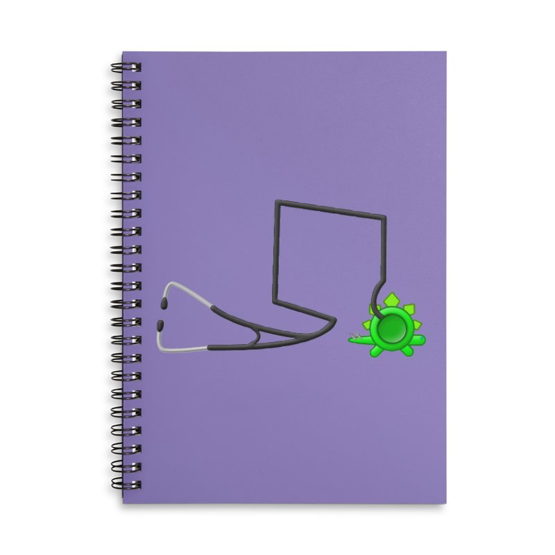 Stegoscope Accessories Lined Spiral Notebook by Eriklectric's Artist Shop