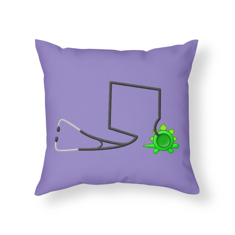 Stegoscope Home Throw Pillow by Eriklectric's Artist Shop