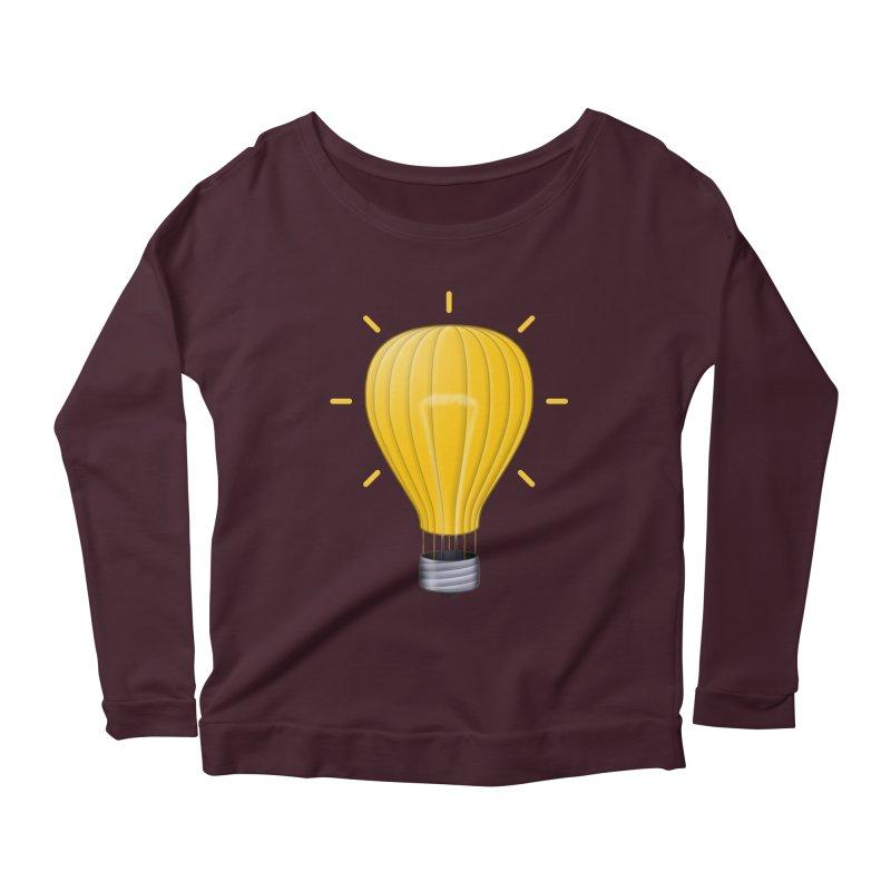 Lighter Than Air Women's Scoop Neck Longsleeve T-Shirt by Eriklectric's Artist Shop