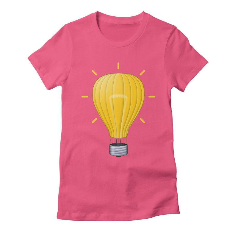 Lighter Than Air Women's Fitted T-Shirt by Eriklectric's Artist Shop