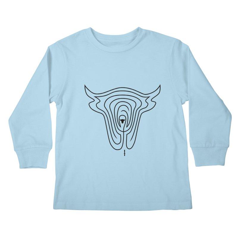 Labyrintaur Kids Longsleeve T-Shirt by Eriklectric's Artist Shop