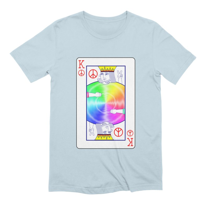 Peace Rules Men's Extra Soft T-Shirt by Eriklectric's Artist Shop