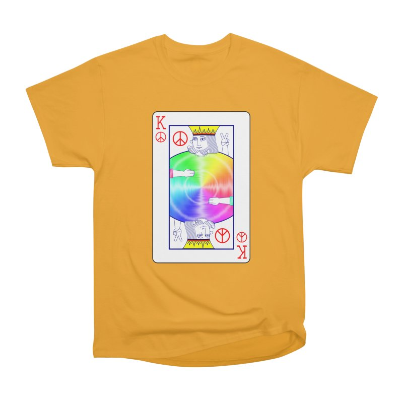 Peace Rules Men's Heavyweight T-Shirt by Eriklectric's Artist Shop