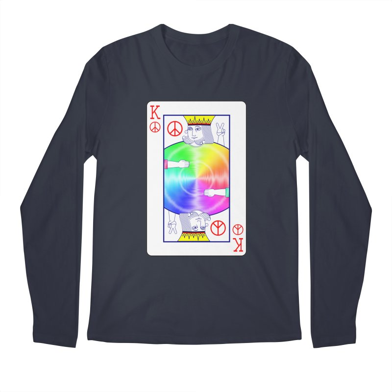 Peace Rules Men's Longsleeve T-Shirt by Eriklectric's Artist Shop