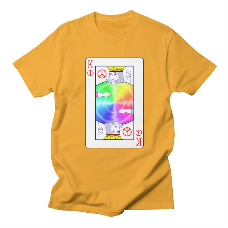 Peace Rules Men's Regular T-Shirt by Eriklectric's Artist Shop