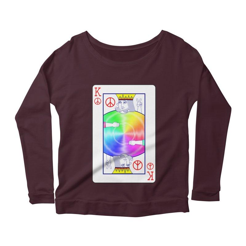Peace Rules Women's Scoop Neck Longsleeve T-Shirt by Eriklectric's Artist Shop