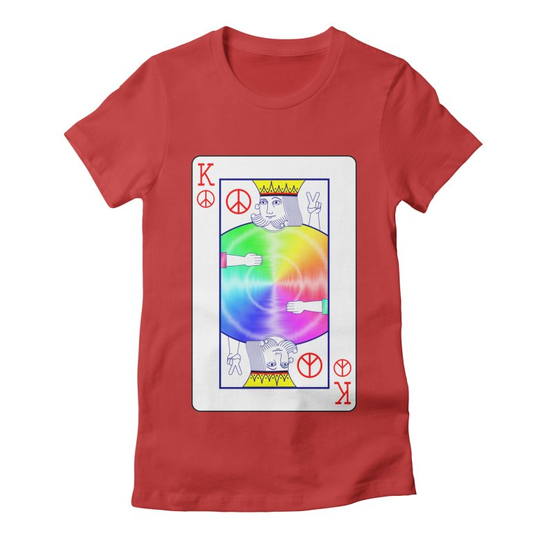 Peace Rules Women's Fitted T-Shirt by Eriklectric's Artist Shop