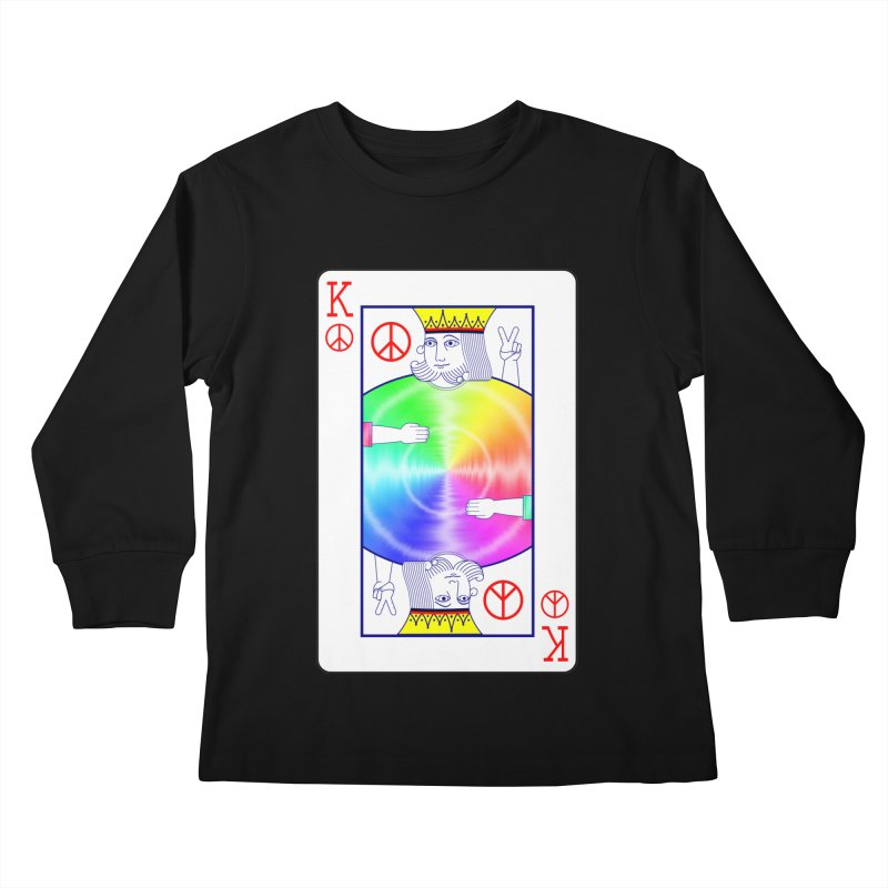 Peace Rules Kids Longsleeve T-Shirt by Eriklectric's Artist Shop
